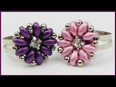 DIY | Ring mit Blume aus Perlen fädeln | Beaded ring | Twin beads flower | jewellery - YouTube