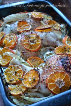 Roasted chicken with clementines & arak from Jerusalem cookbook