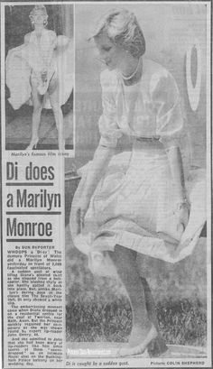 May 31, 1985: Diana Princess of Wales has a gust of wind blow her skirt up, as she gets off her Queens Flight helicopter, at the Poolemead centre for the Deaf in Twerton on Avon, Bath, Avon.
