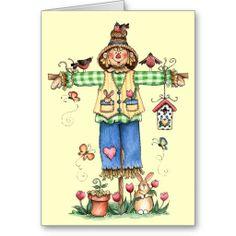 http://www.zazzle.com/spring_scarecrow_greeting_card-137022267939600700