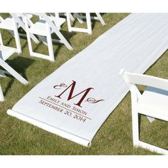 Wedding decorations Walk down the aisle in style with this personalized aisle runner.      ZBKX10609P