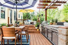 """Outstanding """"outdoor kitchen designs layout patio"""" info is readily available on our website. Check it out and you will not be sorry you did. Small Outdoor Kitchens, Outdoor Kitchen Plans, Outdoor Cooking Area, Outdoor Kitchen Countertops, Outdoor Kitchen Design, Outdoor Rooms, Outdoor Decor, Backyard Kitchen, Indoor Outdoor Living"""