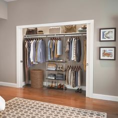 Increase your closet's storage instantly with a no-tools add-on like our Closet Maximizer. #ClosetOrganization #ClosetStyle #Closet #ClosetMaid Closet, Simple Closet, Home, Storage, Closet Maid, Bedroom, Home Decor, Closetmaid