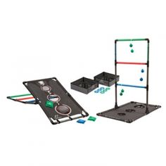 Eastpoint 3-In-1 Game Combo.  Includes Bean Bag Toss, Ladderball and Washer Toss - all three games wrapped up in one!  | Outdoor Games - Mills Fleet Farm