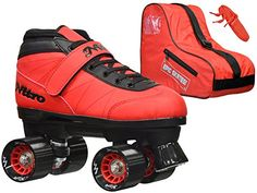 New 2016 Epic Nitro Turbo Red Indoor  Outdoor Quad Roller Speed Skates Bundle Mens 5 >>> Read more reviews of the product by visiting the link on the image. (This is an affiliate link) #InlineSkating