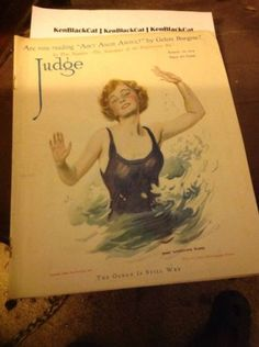 Judge-August-16-1919-James-Montgomery-Flagg-Cover-Lady-Swimsuit-Made-in-USA #judge #1919 #jamesmontgomeryflagg #ebay #sold #kenblackcat