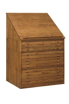Amish Drafting Flat File Cabinet 31348 Studio