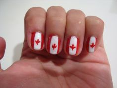 30 Canadatastic DIY-Able Manicures For Canada Day Canada Day, Art Google, Nails, Manicures, Nail Art, Diy, Beauty, Google Search, Finger Nails