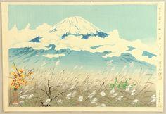 Tokuriki Tomikichiro Title:Thirty-six Views of Mt.Fuji - Autumn Field Date:1941.