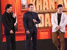 Salman Khan has posted a music video on his Facebook page in which Shah Rukh Khan, Aamir Khan and Salman Khan are seen together.