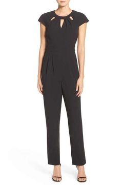 432e2578aa Eliza J Cutout Crepe Jumpsuit Stitch Fix Outfits
