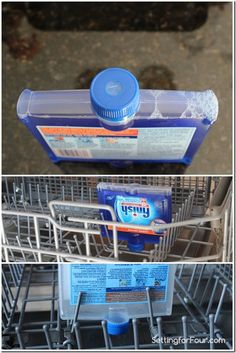 Simple and quick tip to get your dishwasher and dishes sparkling clean! No fuss no muss! Cleaning Recipes, House Cleaning Tips, Spring Cleaning, Cleaning Hacks, Cleaners Homemade, Diy Cleaners, Finish Dishwasher Cleaner, Household Cleaners, Household Tips