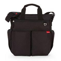 Skip Hop Duo Signature Diaper Bag with Portable Changing Mat, Black