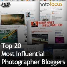 Top 20 Most Influential Photographer Bloggers