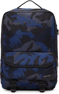 Diesel - Blue Camo F-Close Backpack