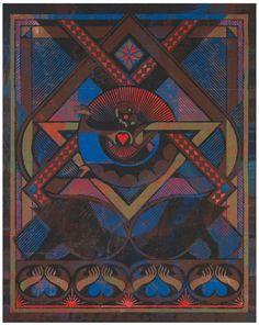 "GEORG SADOWICZ . ""Der Lenz"" . PVC-Schnitt, Darstellung 250 x 200 cm"