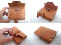 Handmade leather card holder - via Etsy, Loray:N.