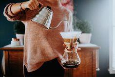 Fresh coffee.