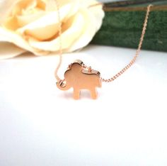 Hey, I found this really awesome Etsy listing at https://www.etsy.com/listing/94104036/tiny-elephant-pendant-necklace-best