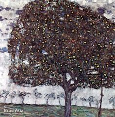 Apple Tree II by Gustav Klimt - Oil Painting Reproduction - BrushWiz.com