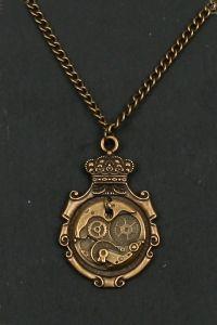 Steampunk Halskette - Uhrwerk