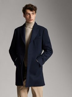 "RRP £ 139 Nuevo-Azul Marino abotonadura simple Blazer 42/"" de largo"