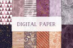 Digital paper set by GraphicRain on @creativemarket