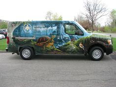 South Shore Natural Science Center vehicle wrap.