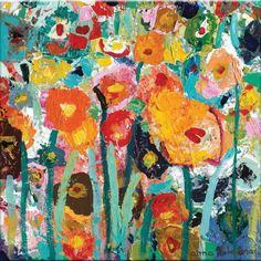 Palette Poppies by Anna Blatman Painting Print on Canvas