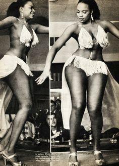 Burlesque dancer Ethlyn Butler c. 1955. (Holy crap she has hips.)