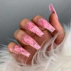 30 most sexy and trendy prom and wedding acrylic nails and matte nails for this season 24 - nails Aycrlic Nails, Matte Nails, Swag Nails, Hair And Nails, Coffin Nails, Manicure, Black Nails, Fake Gel Nails, Grunge Nails