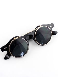 Black Double Layered Sunglasses US$13.30