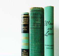 Sea Green Instant Book Collection / Vintage Book Decor