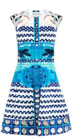 MARY KATRANZOU Delcar Tiktok Print Dress - Lyst  Printed Maxi Dress #2dayslook #sasssjane #PrintedmaxiDress   www.2dayslook.com