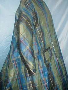 Antique Dress 1860 Green and Blue Plaid Silk | Clothing, Shoes & Accessories, Vintage, Women's Vintage Clothing | eBay!