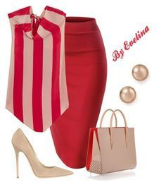 """EVE"" by evelina-er on Polyvore featuring Juan Carlos Obando, Jimmy Choo, Christian Louboutin and Bloomingdale's"