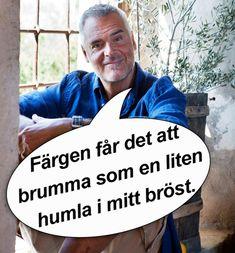 """Hela Sveriges mysfarbror Ernst Kirchsteiger är äntligen tillbaka i rutan med """"Sommar med Ernst"""". Men är det någon som fattar vad han egentligen säger? Vi har samlat ihop hans 11 bästa citat Swedish Quotes, Im Crazy, Feel Good, Me Quotes, Laughter, Haha, Poems, Funny Memes, Lettering"""