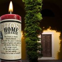 Home Clear & Bless Limited Edition Ghost Candle Candle Magic, Candle Spells, Candle Jars, White Magic Spells, Halloween Candles, Get Educated, Burning Candle, Crystal Ball, Love And Light