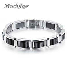 Modyle 2017 Fashioin Man Health-Care Hematite Bracelets Fashion Trendy Black Stainless Steel Men Jewelry Wholesale Price