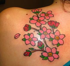 japanese cherry blossom tattoo designs - Google Search