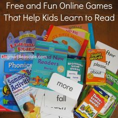 List of online games to help kids learn to read