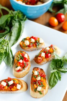 Bruschetta Recipe -- this quick and easy bruschetta recipe packs loads of fresh ingredients and comes together in under 10 minutes, perfect as an appetizer or even as a meal!