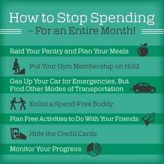 Challenge yourself to stop spending for an entire month using these 7 tips. http://poundstopocket.co.uk/pound-place/saving-money-cat/how-to-stop-spending-for-an-entire-month