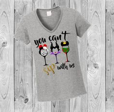 """Channel Your Inner Villain With This """"You Can't Sip With Us"""" Shirt"""