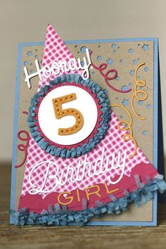 Hooray Birthday Girl Card by Erin Lincoln for Papertrey Ink (June 2015)