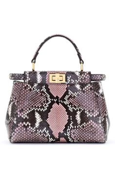 Fendi 'Mini Peekaboo' Genuine Python Crossbody Bag available at #Nordstrom
