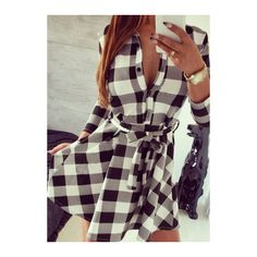 Button Closure Three Quarter Sleeve Mini Dress ($21) ❤ liked on Polyvore featuring dresses, black, a line mini dress, mini dress, 3/4 sleeve dress, short black dresses and plaid dress