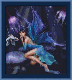 Cross Stitch Works: Night Forest Fairy 101111239 Free Cross Stitch Pattern