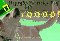 Saint Patrick's Day Greeting Card Yellow by overthefenceart
