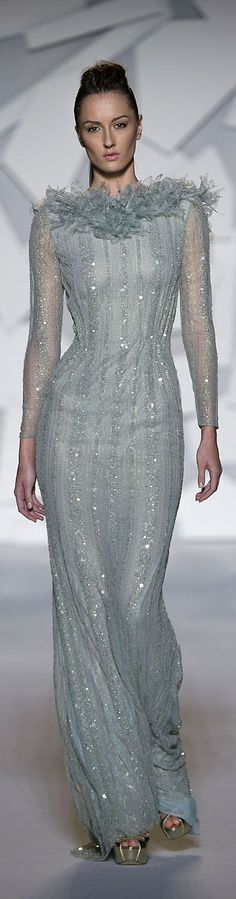 Abed Mahfouz - Couture - Fall-Winter 2012-2013 http://en.flip-zone.com/fashion/couture-1/independant-designers-41/abed-mahfouz-2330
